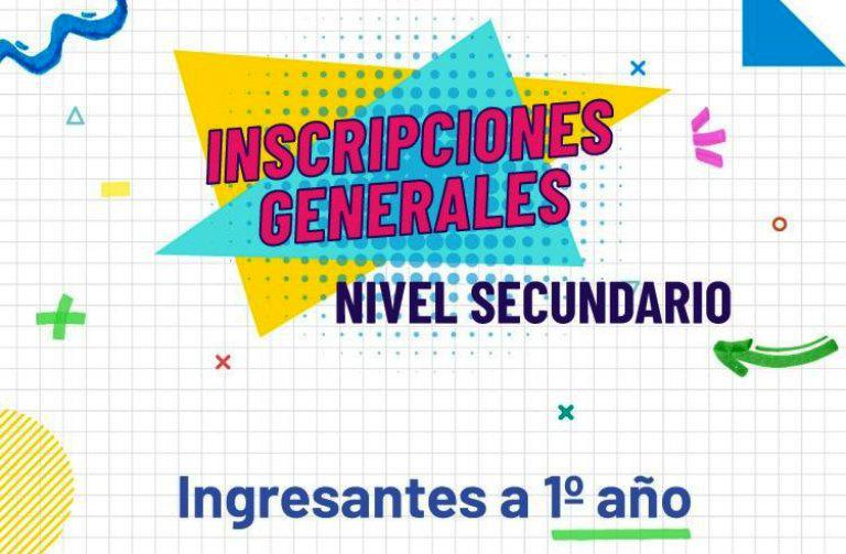 inscripcion secundario
