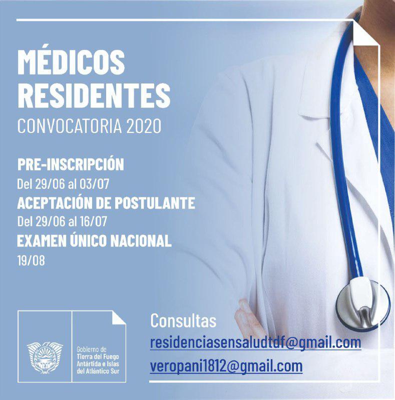 convocatoria medicos residentes